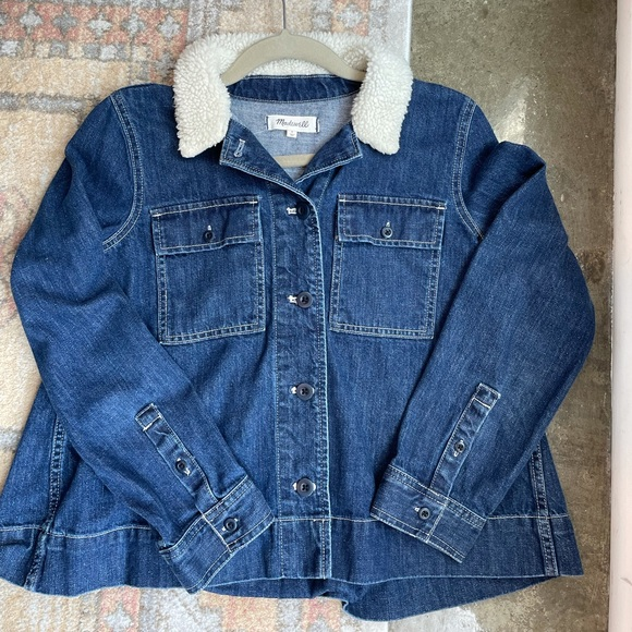Madewell Denim Jacket with Detailed Collar
